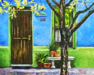 1610D A STREET IN SOUTH TUCSON Oil on Panel 16X20