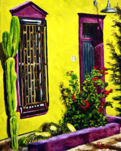 1610F YELLOW ON A TUCSON STREET  Oil on Panel 16X20