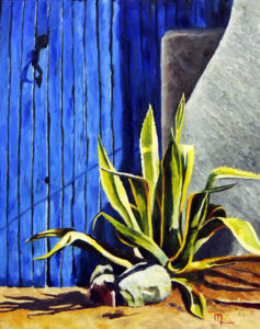 1612B TUCSON BLUE Oil on Panel 16x20