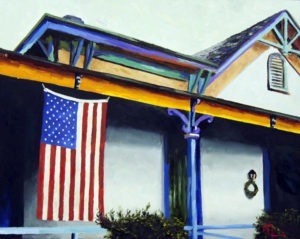 1701B  FLAG TUCSON 16x20 Oil on Panel