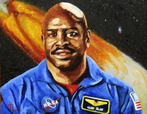 1703D - LELAND MELVIN 16x20 Oil on Panel