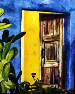1704F GOLDEN DOOR TUCSON 16x20 Oil on Panel