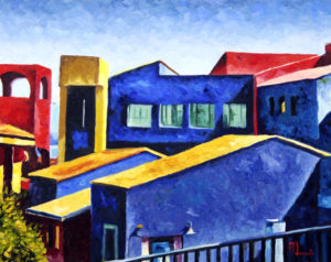 1705A LA PLACITA VILLAGE TUCSON  Oil on Panel 16x20