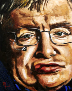 1708F STEVEN HAWKING 16x20 Oil on Panel