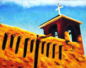 1709A SAN FRANCISCO DE ASIS MISSION 16x20 Oil on Panel