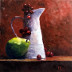 1811h-still-life-with-green-pair-16x20-oil-on-panel-small
