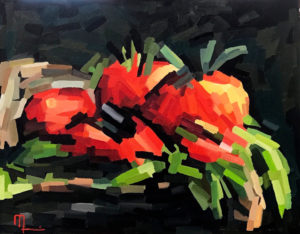 2006A TOMATO CHIPS 16x20 Oil on Panel