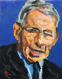 2010A – MAN OF HONOR - Dr. Anthony Fauci – 16x20 Oil on Panel
