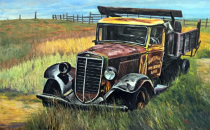 2101B - OUT TO PASTURE- 48x30 Oil on Panel