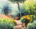 2105A MY SPRING GARDEN Oil on Panel 16x20 small